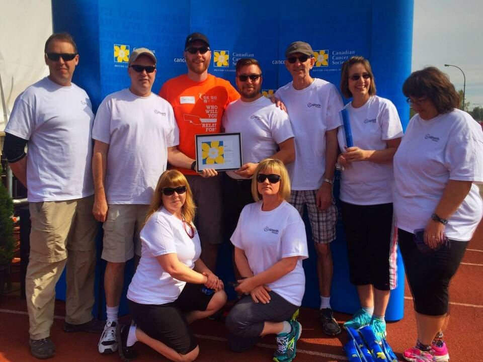 Allnorth Accepts the Baton and Raises $13,525 in Relay For Life