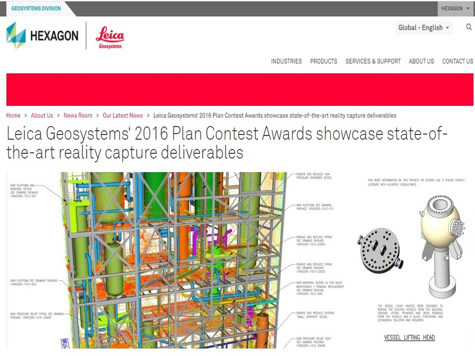 Allnorth Wins First Place in Leica Geosystems' 2016 Plan Contest Awards
