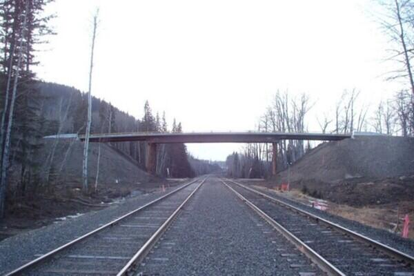 Rail Overhead, Willow Creek Mine, Chetwynd, BC