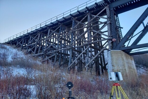 CN Railway Bridge Rehabilitation Project Survey Monitoring